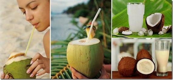 bber agua de coco